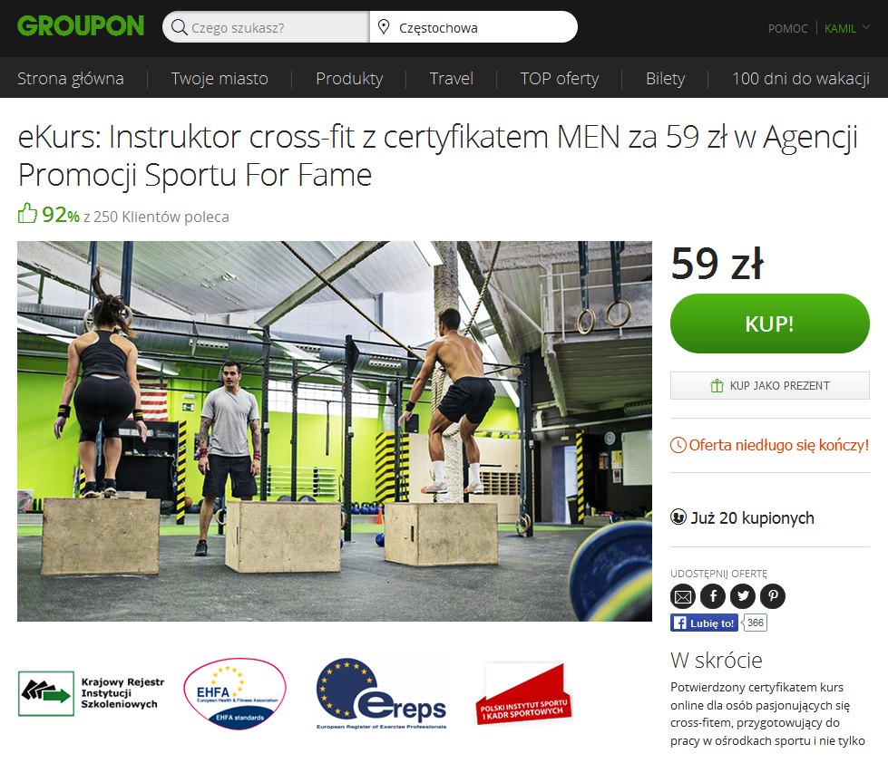 Trener Cross-Fit Groupon 1